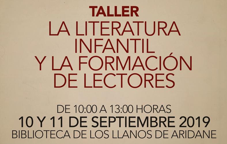 Cartel taller FHE La literatura infantil y la formación de lectores
